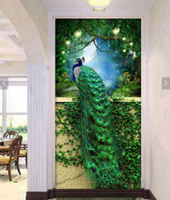 Load image into Gallery viewer, Paint With Diamonds Green Peacock