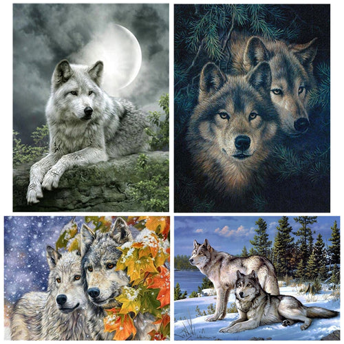 Wolf Mosaic 5D Diamond Painting