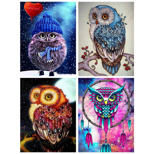 Sparkling Owl - 5D Diamond Painting