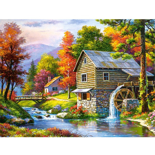 Landscape Mosaic 5D Diamond Painting