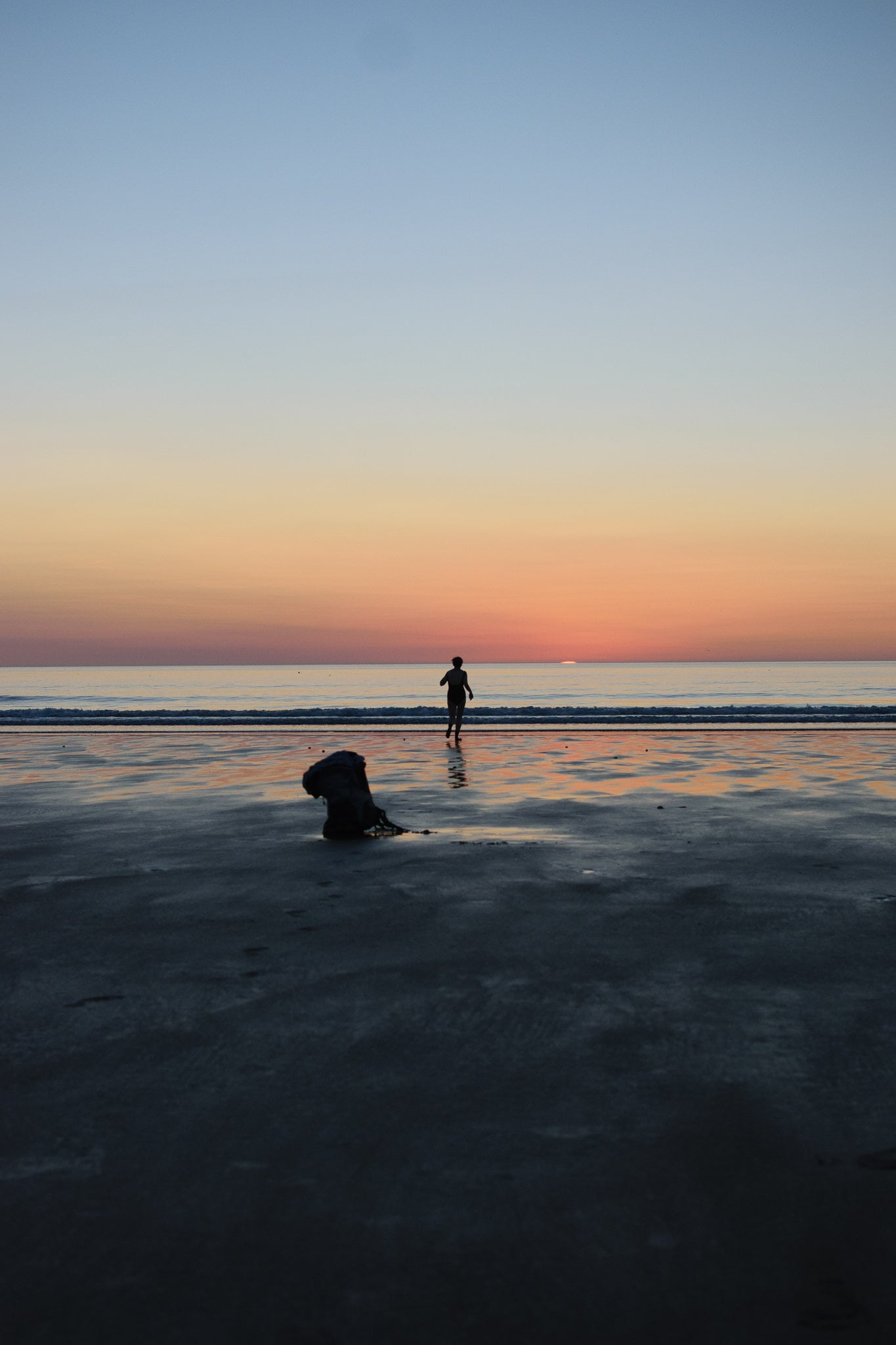 Just GET IN the sea - a morning sunrise swim at newton by the sea northumberland