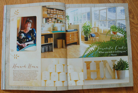 Hannah Nunn in Where Women Create magazine