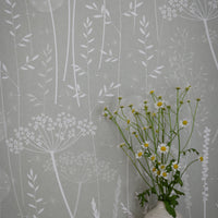 Paper Meadow Wallpaper in Brume