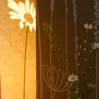 Cylindrical Daisy Table Lamp