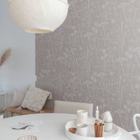 Paper Meadow Wallpaper in Mallow
