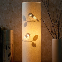 Cylindrical Coal Tit Table Lamp