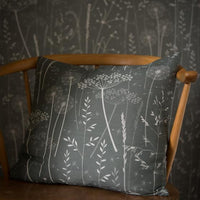 Paper Meadow Fabric in Charcoal