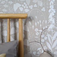 Hedgerow wallpaper in Hush