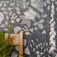 Hedgerow wallpaper in Nocturne