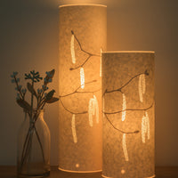 Cylindrical Hazel Catkins Table Lamp
