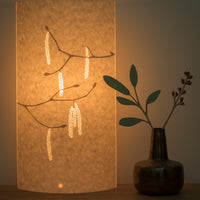 Oval Hazel Catkins Table Lamp