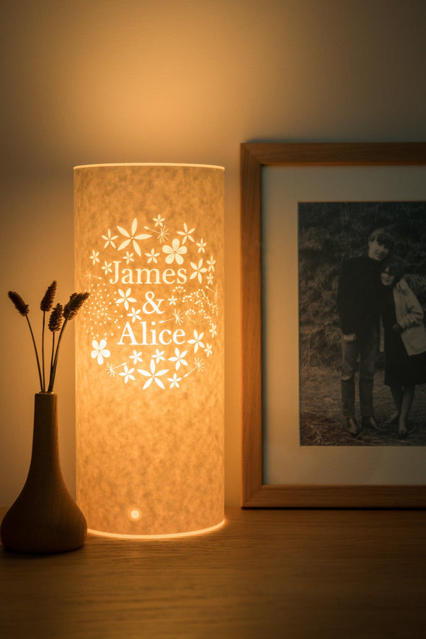Bouquet personalised lamp hannah nunn aloadofball Image collections