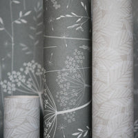 Paper Meadow Wallpaper in Charcoal
