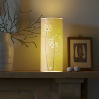 Cylindrical Dandelion Clock Table Lamp