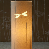 Cylindrical Dragonfly Table Lamp