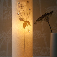 Cylindrical Japanese Anemone Table Lamp