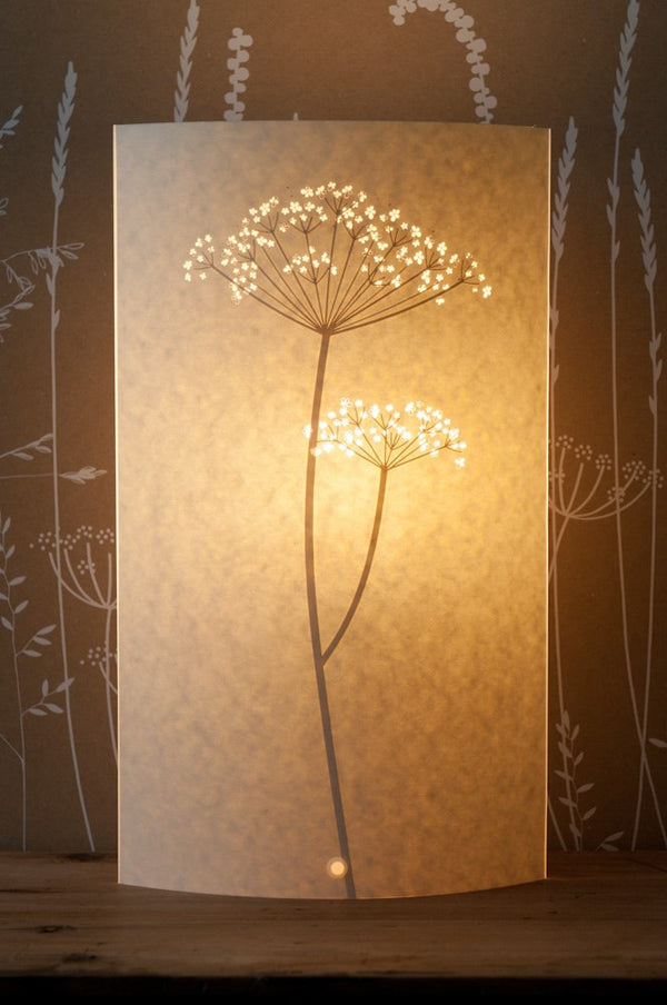 Oval Cow Parsley Table Lamp