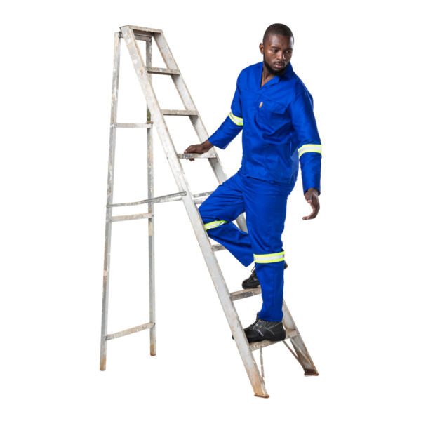 D59 100% COTTON CONTI PANTS WITH REFLECTIVE TAPE -  ROYAL BLUE - Just Tools Pinetown (PTY) Ltd