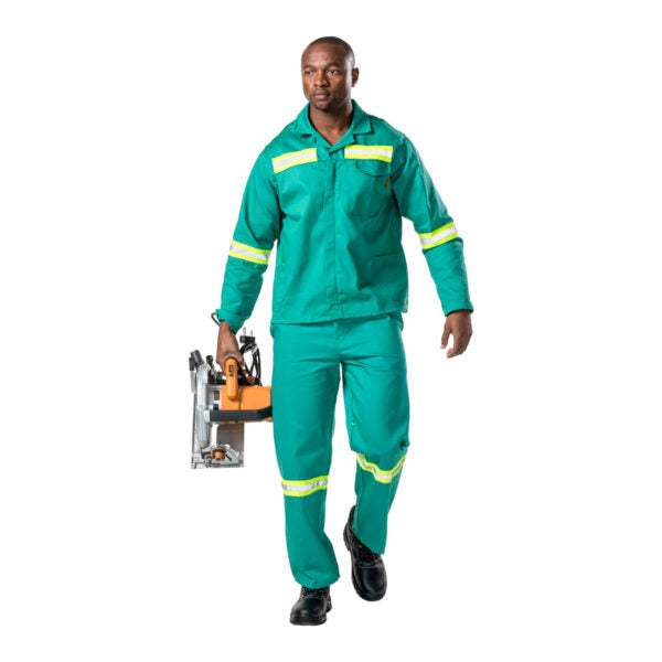 D59 Fern Green Flame CONTI PANTS with REFLECTIVE - Just Tools Pinetown (PTY) Ltd