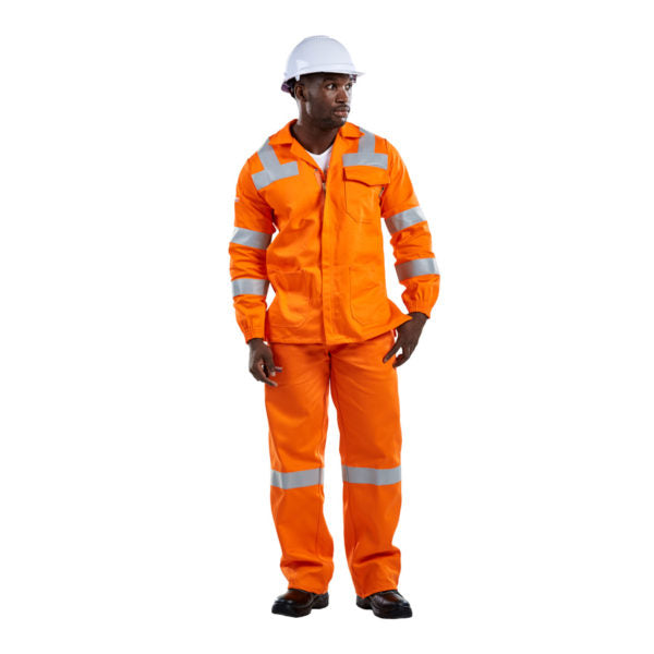 D59 Orange Flame & Acid JACKET with Reflective - Just Tools Pinetown (PTY) Ltd