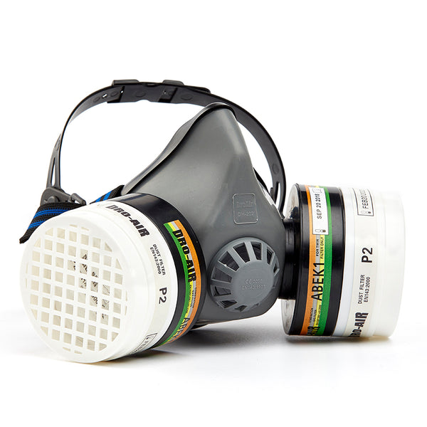 DROMEX MIDIMASK TPR Double Mask  - GREY (NRCS: AZ2011/46) - Just Tools Pinetown (PTY) Ltd