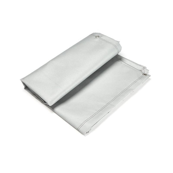 DROMEX SILICON COATED FIRE BLANKET, 550C, GREY 2X2M