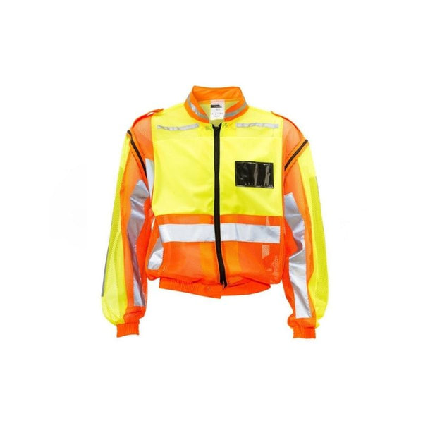 DROMEX LIME/ORANGE TRAFFIC REFLECTIVE VEST, ID, DETACH SLEEVE