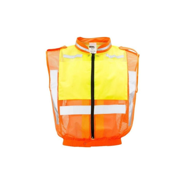 LIME/ORANGE TRAFFIC RELECTIVE VEST, SLEEVLESS
