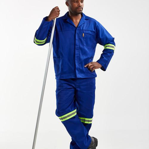 HYBRID Royal Blue CONTI SUIT with REFLECTIVE TAPE - Just Tools Pinetown (PTY) Ltd