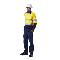 DROMEX reflective YELLOW/NAVY ventilated long sleeve shirt - Just Tools Pinetown (PTY) Ltd