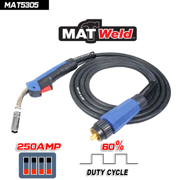 MATWELD  Mig Torch BNZ 250 Amp 4M - Just Tools Pinetown (PTY) Ltd