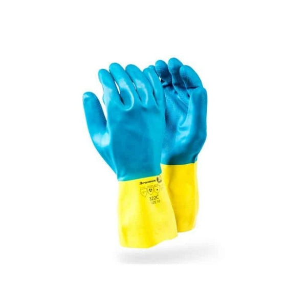 NEOPRENE BI-CO GLOVES BLUE/YELLOW