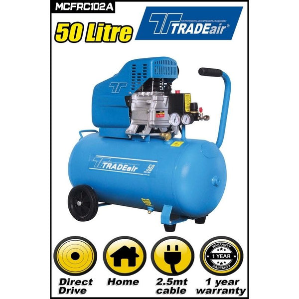 TRADEAIR DIRECT DRIVE 2HP COMPRESSOR 50L