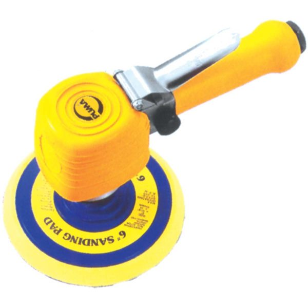 "SANDER 6"" H/D D/A AIR YELLOW P - Just Tools Pinetown (PTY) Ltd"