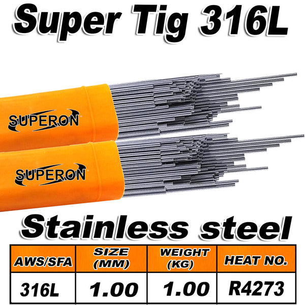 SUPERON TIG WIRE 316L 1MM PER KG