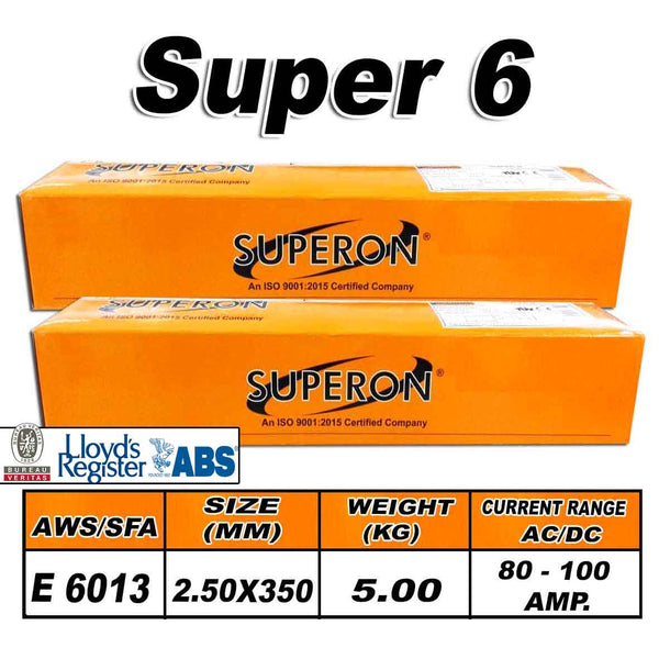 1) SUPERON SUPER 6 2.5MM ELECTRODES 5KG - Just Tools Pinetown (PTY) Ltd