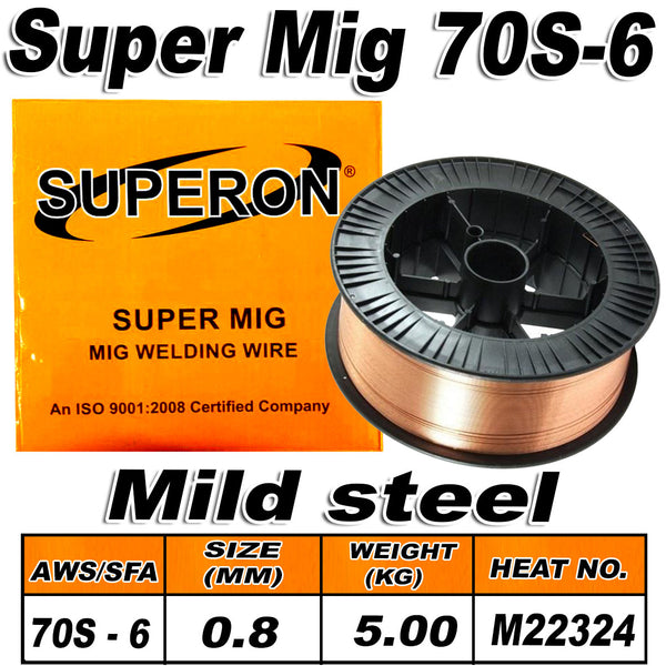 1) SUPERON MIG WIRE 70S-6 MILD STEEL 0.9MM 15KG - Just Tools Pinetown (PTY) Ltd