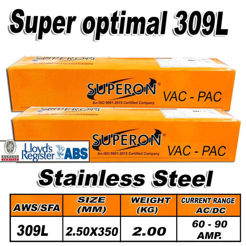 2) SUPERON SUPER OPTIMAL 309L 2.5MM STAINLESS STEEL ELECTRODES 2KG - Just Tools Pinetown (PTY) Ltd