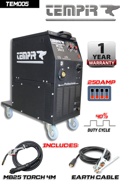 TEMPIR MIGMAG 2612 SPH 250A - Just Tools Pinetown (PTY) Ltd