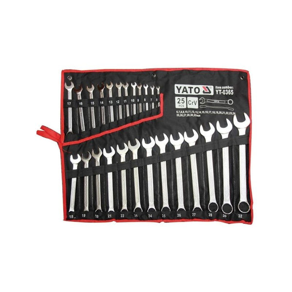 COMBINATION SPANNER SET - 25PCS