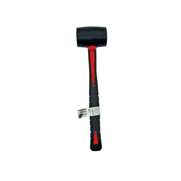 RUBBER MALLET WITH FIBREGLASS, TPR HANDLE