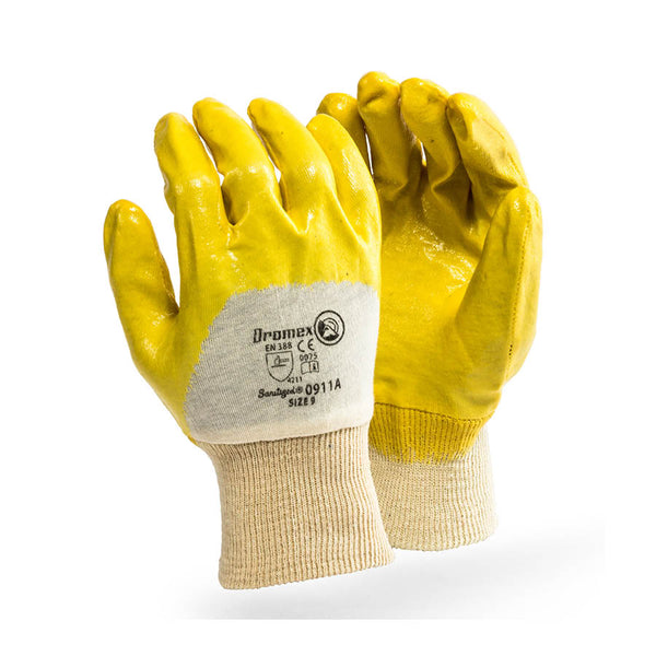 Yellow Actifresh Palm Coated Nitrile, Knitted Wrist - Just Tools Pinetown (PTY) Ltd