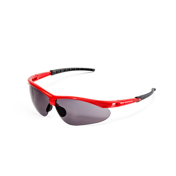DROMEX FOCUS SPECTACLE GREY, ANTI SCRATCH & ANTI FOG, RED/YELLOW/BLUE FRAME - Just Tools Pinetown (PTY) Ltd