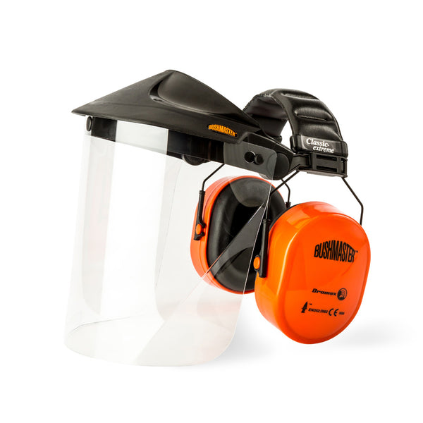 DROMEX BUSHMASTER - EAR DEFENDER with PC VISOR - Just Tools Pinetown (PTY) Ltd
