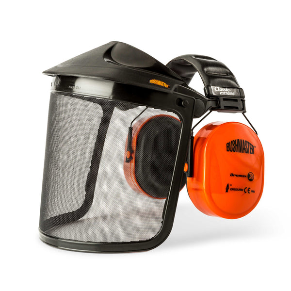 DROMEX BUSHMASTER - EAR DEFENDER with GAUSE VISOR - Just Tools Pinetown (PTY) Ltd