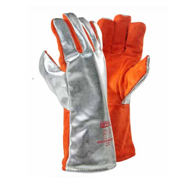 DROMEX ALUMINISED LEATHER GLOVES (500 °C),3444