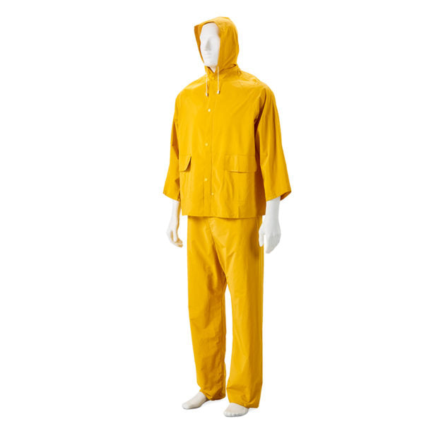 YELLOW Two piece PVC rain suits - Just Tools Pinetown (PTY) Ltd