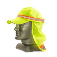 DROMEX LIME REFLECTIVE Baseball hat with neck protector - Just Tools Pinetown (PTY) Ltd