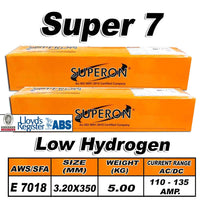 5) SUPERON SUPER 7 3.2MM LOW HYDROGEN ELECTRODES 5KG - Just Tools Pinetown (PTY) Ltd