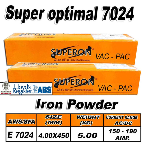 8) SUPERON SUPER OPTIMAL 4.00MM IRON POWDER ELECTRODES 5KG - Just Tools Pinetown (PTY) Ltd